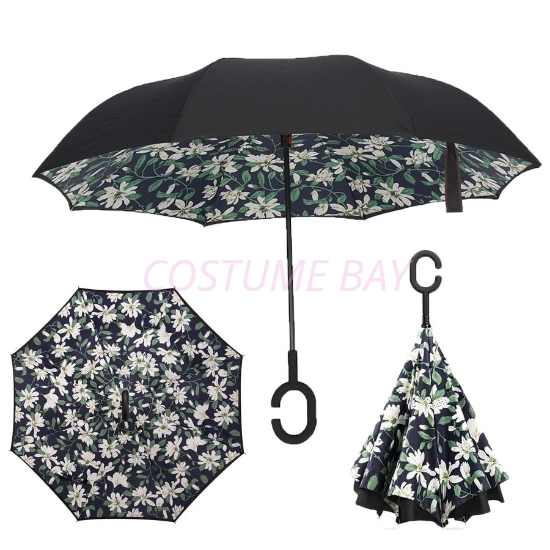 Picture of Upside Down C-Handle Reverse Umbrella -Lily