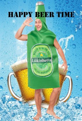 Picture of Mens  Beer Bodysuit  Fancy Costume