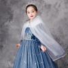 Picture of Girls Princess Frozen Elsa Cape - Blue