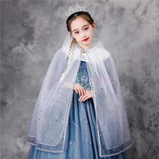 Picture of Girls Frozen Elsa Cape-White Purple