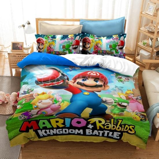 Picture of Super Mario Rabbids  Bed Duvet Cover Set