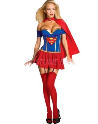 Picture of Superhero Supergirl Super Woman Costume Fancy Dress