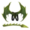 Picture of 3D Dragon Wing And Tail Set - Green