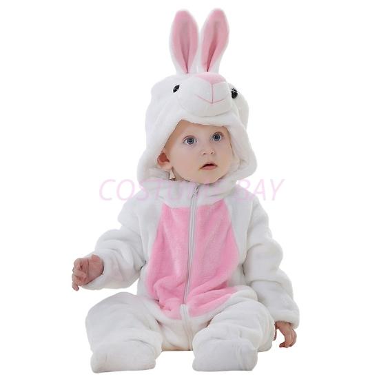 Picture of White Rabbit Baby Kigurumi Onesie Romper