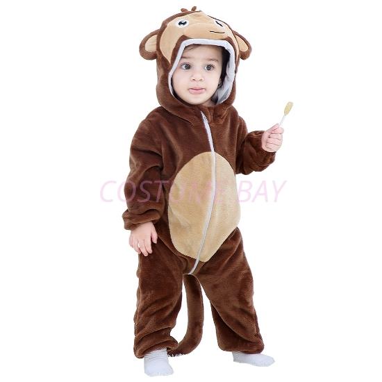 Picture of Brown Monkey Baby Kigurumi Onesie Romper