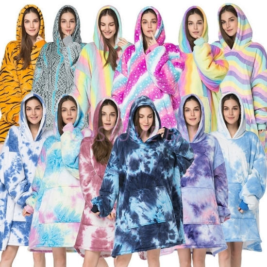 Picture of Multicoloured Winter Blanket Hoodie