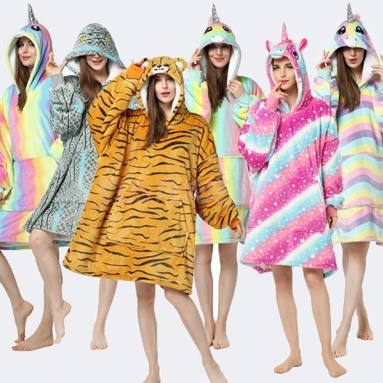 Picture of Animal Hooded Blanket Hoodie