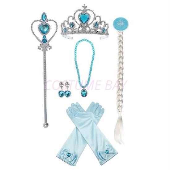 Picture of Princess Elsa Tiara Blue 6pc Set
